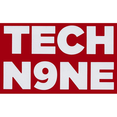 Tech N9ne - White Decal