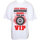 Tech N9ne - White Independent Grind Tour 2014 VIP T-Shirt